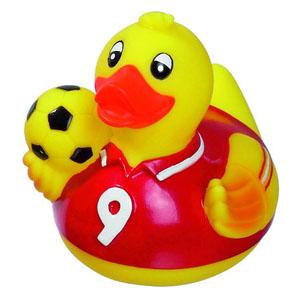 Vinyl Duck Fun Soccer Player