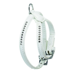 Art Leather Plus Harnesses Monte Carlo White - 35-41cm x 14mm
