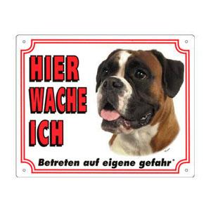 FREE Dog Warning Sign, Boxer