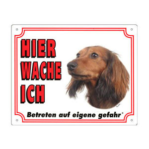 FREE Dog Warning Sign, Dachshund