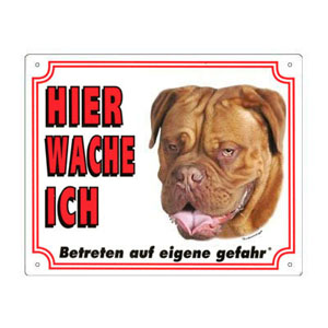 FREE Dog Warning Sign, Dogue de Bordeaux