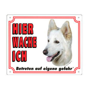 FREE Dog Warning Sign, Berger Blanc Suisse