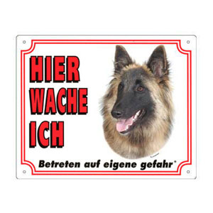 GRATIS Hunde Warnschild, Tervueren