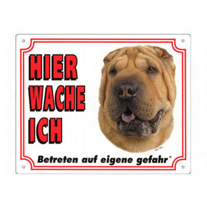 GRATIS Hunde Warnschild, Shar-Pei