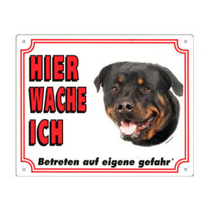 FREE Dog Warning Sign, Rottweiler