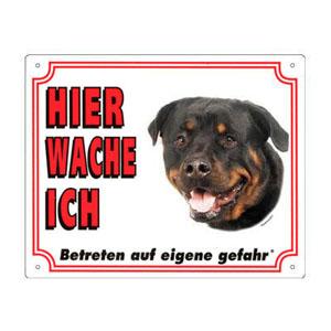GRATIS Hunde Warnschild, Rottweiler