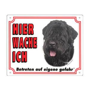 GRATIS Hunde Warnschild, Bouvier des Flandres