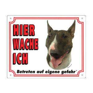 GRATIS Hunde Warnschild, Bullterrier