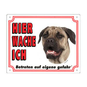 FREE Dog Warning Sign, Bullmastiff
