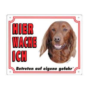 GRATIS Hunde Warnschild, Irish Setter
