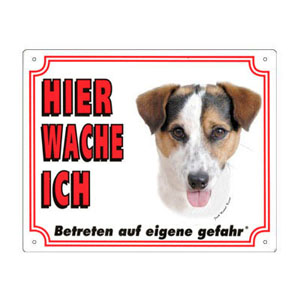 FREE Dog Warning Sign, Jack Russell Terrier B
