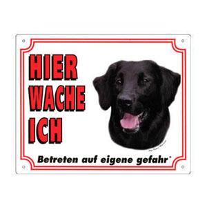 GRATIS Hunde Warnschild, Flat Coated Retriever