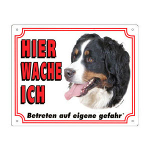FREE Dog Warning Sign, Bernese Mountain Dog