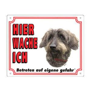 GRATIS Hunde Warnschild, Dackel Rauhaar