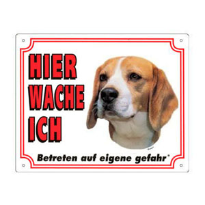 FREE Dog Warning Sign, Beagle