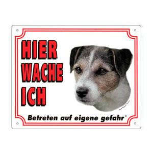 FREE Dog Warning Sign, Jack Russell Terrier A