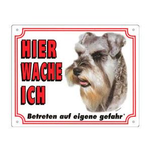 GRATIS Hunde Warnschild, Schnauzer