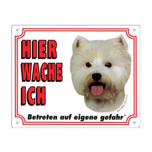 GRATIS Hunde Warnschild, West Highland White Terrier