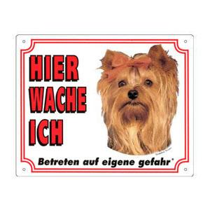 FREE Dog Warning Sign, Yorkshire Terrier