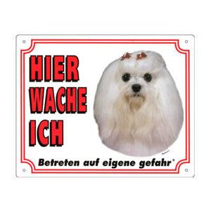 GRATIS Hunde Warnschild, Malteser