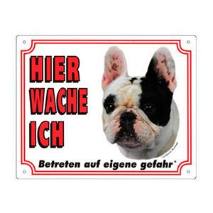 GRATIS Hunde Warnschild, Französische Bulldogge