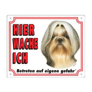 GRATIS Hunde Warnschild, Shih Tzu