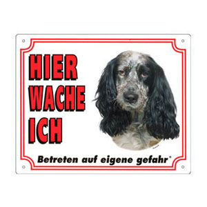 GRATIS Hunde Warnschild, Spaniel