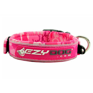 Ezydog - Neoprene Dog Collar Pinkcamo