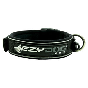 Ezydog - Neoprene Dog Collar Black
