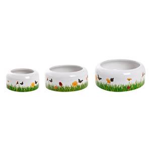 Keramik Trog Deko Frühlingswiese - 180ml