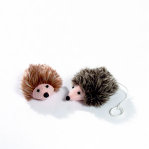 Plush Hedgehog Shakin Mecki Wind-Up Toy
