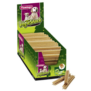 150 x Vegie Snack Chewing Rolls Nature, 12cm
