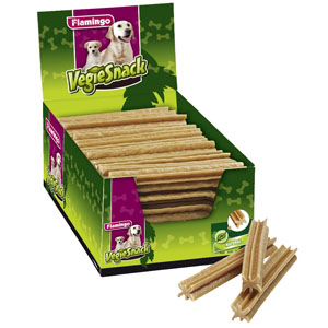 60 x Vegie Snack Chewing Rolls Nature, 18cm