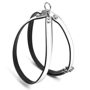 Art Leather Plus Harness Paris, White, 21-27cm x 11mm