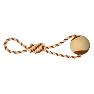 Baumwoll Seil mit Tennisball XL - 46 x 10cm