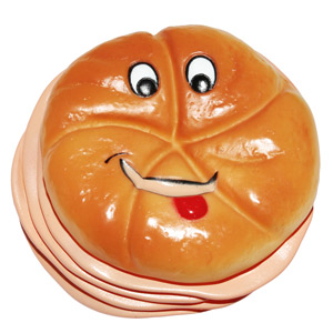 Vinyl Wurstsemmel Smiley