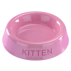 Ceramic Bowl Kitten Pink