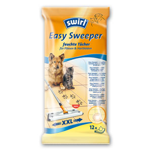 6 x swirl - Easy Sweeper Wet Wipes For Tiles & Hard Flooring