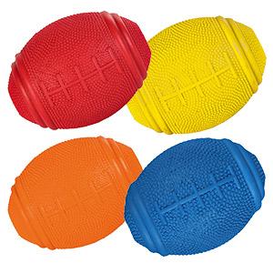 Snack Rugbyball aus Naturgummi - 10 x 8 cm