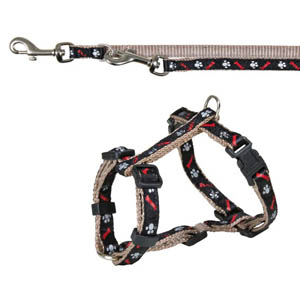 Puppy Harness With Lead - Silver Grey