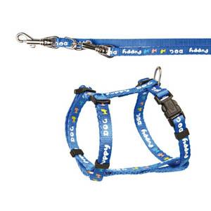Welpengeschirr Puppy Dog mit Leine - blau