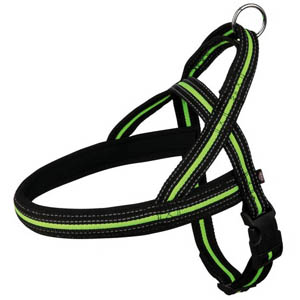 Fusion Norwegian Harness With Neoprene Padding Green