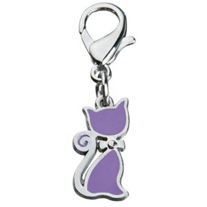 Pendant Cat With Bow Purple