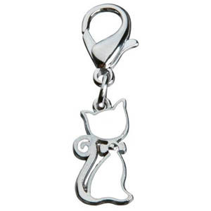 Pendant Cat With Bow White