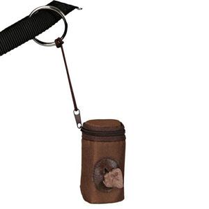 Dog Dirt Bag Dispenser Nylon, Brown