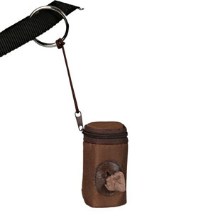 Dog Dirt Bag Dispenser Nylon, Brown
