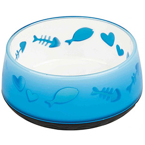 Cat Bowl Lovely Cat Blue