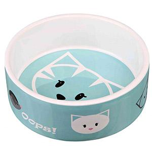 Cat Ceramic Bowl Mimi Blue