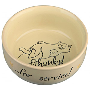 Keramik Bowl Thanks ...for service! - Beige