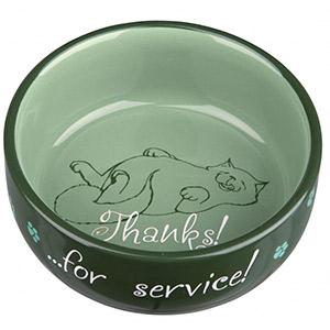 Keramiknapf Thanks ...for service! - Grün